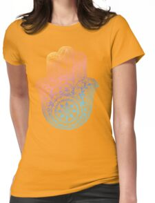 Rainbow Hamsa Womens Fitted T-Shirt
