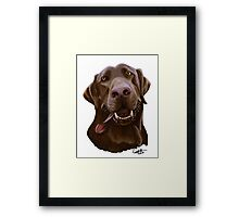 Chocolate Lab Caricature Framed Print
