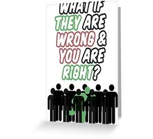 What If? Greeting Card