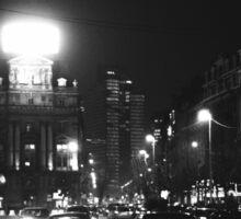 Brussels at Night  Sticker