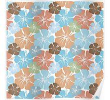 Hawaiian Hibiscus Floral Poster
