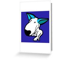 Aqua Ears English Bull Terrier Puppy Greeting Card