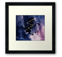 ES Birthsigns: The Steed Framed Print