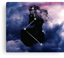 ES Birthsigns: The Lady Canvas Print