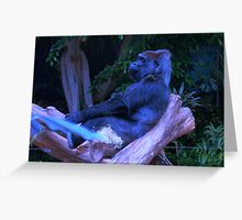 Feeling a little blue?  Gorilla Greeting Card