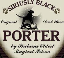 Azkaban's Siriusly Black Porter Sticker