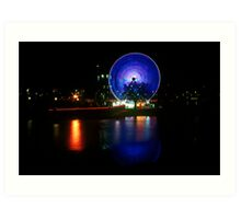 Melbourne Wheel Art Print