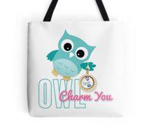 Owl Charm You Teal Owl Tote Bag