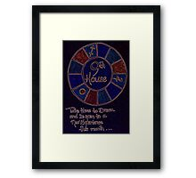 Earthly Cycles - 9th House Framed Print