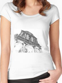 Sassari: facade of the cathedral Women's Fitted Scoop T-Shirt