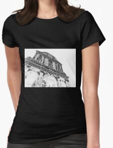 Sassari: facade of the cathedral Womens Fitted T-Shirt