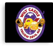 Wily Castle Yellow Devil Ale Canvas Print