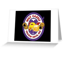 Wily Castle Yellow Devil Ale Greeting Card