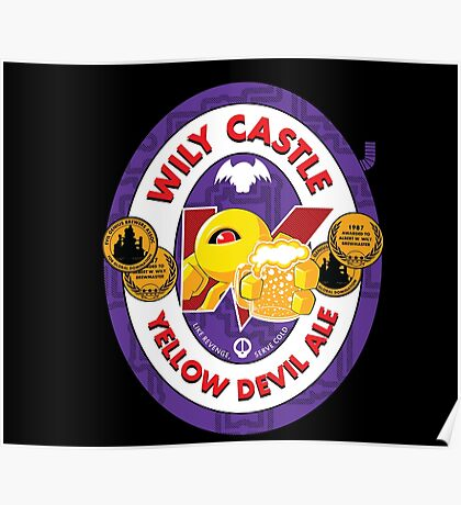 Wily Castle Yellow Devil Ale Poster