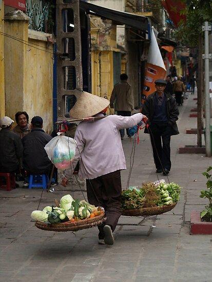 vegetables over the shoulder : 535 views by stickelsimages