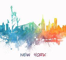 New York City skyline colored by JBJart