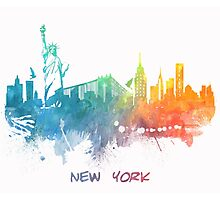 New York City skyline colored Photographic Print