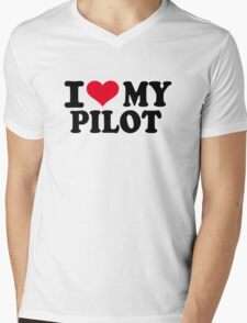 I love my Pilot Mens V-Neck T-Shirt