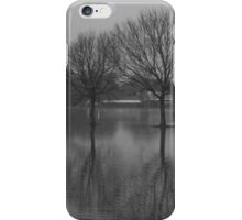 Trees surrounded by water design iPhone Case/Skin