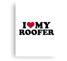 I love my roofer Canvas Print
