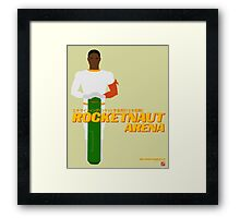 Space Hero One RocketNaut Arena Promo Framed Print