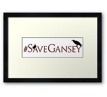 #SaveGansey Framed Print