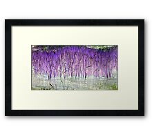 Purple Reeds 1-Available As Art Prints-Mugs,Cases,Duvets,T Shirts,Stickers,etc Framed Print