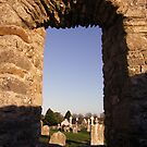 Clonmacnoise cemetery view by John Quinn