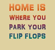 Park your flip flops summer poster by vinainna