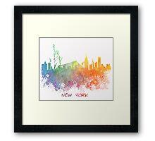 New York City colored skyline Framed Print