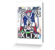 Super Bowl 49 Greeting Card