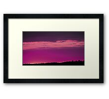 Red Wine Sunset-Available As Art Prints-Mugs,Cases,Duvets,T Shirts,Stickers,etc Framed Print