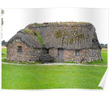 Old Cottage on moor Poster