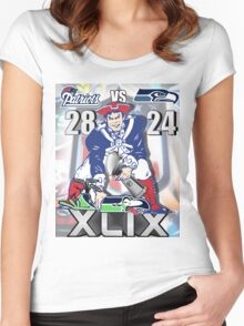 Super Bowl 49 Women's Fitted Scoop T-Shirt