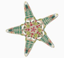 starfish flowers blue Kids Clothes