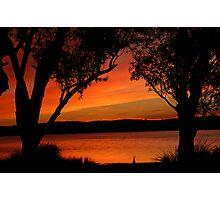 Sunset at Tea Gardens, NSW Photographic Print