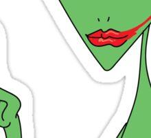lipstick alien Sticker