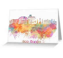 Las Vegas skyline Greeting Card