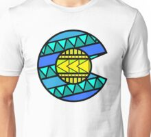 Colorado Tribal Flag: Blues Unisex T-Shirt
