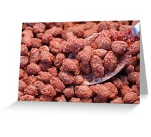Caramelized peanuts Greeting Card