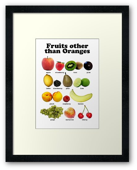 Fruits Other Than Oranges Wall-chart by Brian Edwards