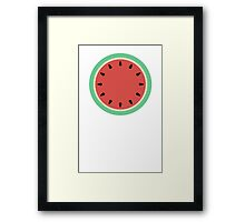 Watermelon Clock - Summer Fruit Framed Print
