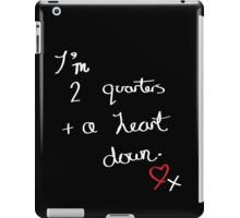 Two Quarters and a Heart Down iPad Case/Skin