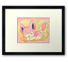 Skitty the Kitten Pokemon Framed Print