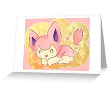Skitty the Kitten Pokemon Greeting Card