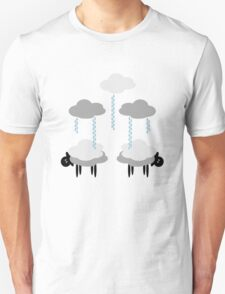 Wooly Weather - Sweater Weather - Sheep Rain Clouds T-Shirt