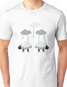 Wooly Weather - Sweater Weather - Sheep Rain Clouds Unisex T-Shirt