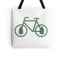 Pacific Northwest Bike - Pine Tree Bicycle - Cycling Tote Bag