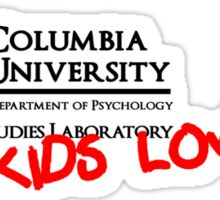 Columbia University Department of Psychology, Paranormal Studies Laboratory. Sticker