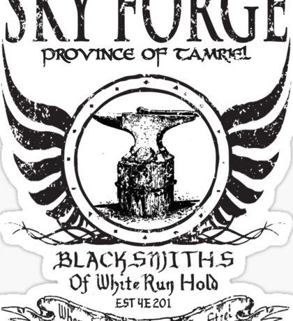 SkyForge - Where Legends Are Born In Steel Sticker